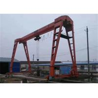 China Long Travelling Electric Single Beam Gantry Crane with Cable Drum on sale