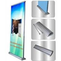 China Custom 90cm width 200cm height Aluminum Alloy double side Roll Up Banner Display Stand for ad display on sale