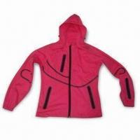 Quality Ladies' Jacket with Three-layer Soft Shell, Membrane and Knit Fabric wholesale