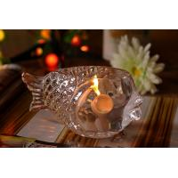 Quality Fashional Creative Clear Glass Tealight Candle Holders Small Gold Fish wholesale