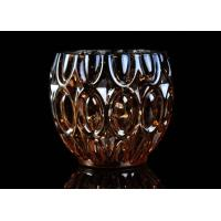 Quality 315ml Dimpled Shape Glass Candle Jars with Color Sprayed Electroplated Effect wholesale