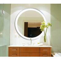 Quality LED Circular Frameless Bathroom Wall Mirrors Hanging Waterproof With Lights wholesale