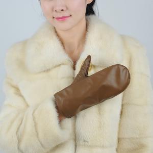 Quality women sheepskin leather gloves mitten accept custom made gloves wholesale