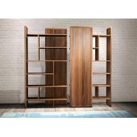 Quality 2017 New walnut wood Bespoke Furniture Storage Cabinet Display Shelves with Glass door wholesale