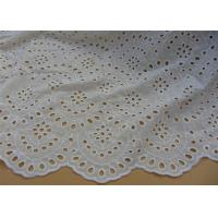 Quality Chemical Vintage Eyelet 100% Cotton Lace Fabric For Lady Shirt And Suit Anti Static wholesale