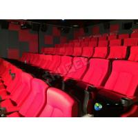 Cheap Red 3D Movie Cinema / Movie Theatre Seats With Vibration System CE Approval for sale