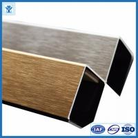 Quality Brushed Gold Color Anodized Aluminum Angle Profiles for Decoration Material wholesale