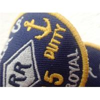 Quality Eco - Friendly Custom Twill Patches Sew - On Back For Garment / Embroidered Cloth Badges wholesale