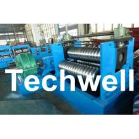 Quality 0.25 - 4.0mm 3 Sets Rollers Corrugated Sheet Bending Machine With 0 - 10m/min Speed wholesale