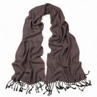 Quality Acrylic Scarf in Solid Color, with Long Lace, Very Soft/Warm, Fashionable Design, Various Uses wholesale