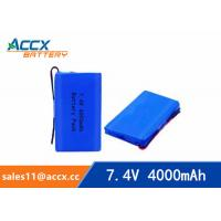 Quality 7.4v lithium polymer battery 4000mAh for medical device, digital product, electric products  with pcm protection wholesale
