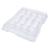 China Anti-Static Plastic Packaging Tray for 4-count QSFP+ QSFP28 Transceiver on sale
