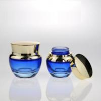 Quality Luxury Glass 50ml 100ml 120ml Bottle with Lotion Pump and 30g 50g Glass Cream Jar wholesale
