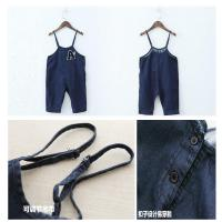 China Dark Blue Baby Boy Overalls Jeans With Suspenders European American Style on sale