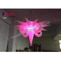 Quality Blow Up Aska Lighting Tower Hanging Inflatable Stars Party Decoration Polygon Shape wholesale