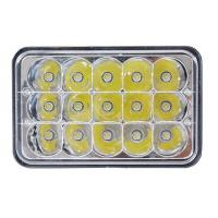 Quality 5 Inch 45W Square Jeep LED Headlights High Low Beam Jeep Front Lights wholesale