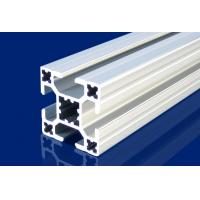 Quality 4mm T Slot Aluminum Extrusion Profiles Silver For Installment Window , Door wholesale