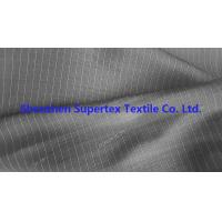 Quality DTY Twill Jacquard Polyester Fabric Two Tone Pin Stripes For Workwear Uniforms wholesale