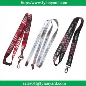 Quality Digital Print Factory ID Badge Holder Lanyard With Custom Logo wholesale