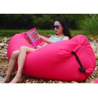 Buy cheap Outdoor Folding Pink Inflatable Air Bag Chair For Beach Rentals 260 * 70CM from wholesalers