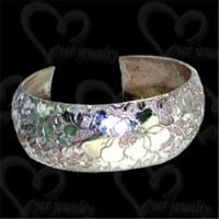 Quality Sparkling silver bangle fashion jewelry wholesale
