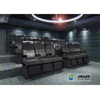 Cheap Black 4D Cinema Equipment Chair Play 3D Films , 4D seats With Sweep Leg And Push Back Effect for sale