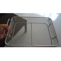 Quality Professional Square Wire Mesh Basket Tray Electrolyzation And Polishing Surface wholesale