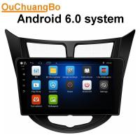 Quality Ouchuangbo car gps nav stereo for Hyundai Verna 2010 with radio stereo bluetooth music androi 6.0 system wholesale