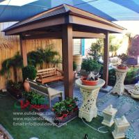 China WPC gazebo for sale 4m*4m in Kuwait -wood plastic composites material on sale