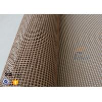 Quality 560gsm 4x4mm PTFE Coated Fiberglass Open Mesh For Tortilla Conveyor Belt wholesale