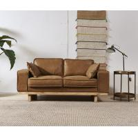 Quality Top Grain Genuine Leather 2 Seater Sofa, Light Brown Two Seater Leather Lounge wholesale