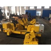Buy cheap Double Drive 60 Ton Conventional Seam Pipe Turning Rolls 400×120mm Rubber Wheels product
