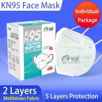 Quality 5 Ply Protective Hygiene Dustproof KN95 Face Mask wholesale