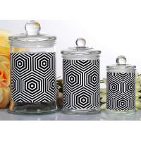Quality Customized Candle Glass Containers Storage Jar With Lid 710ml wholesale