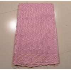 Pink Organza Lace Fabric , 130 - 135cm Width