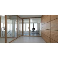 China Free design glass wall partition wooden profile wood partition for modern office on sale