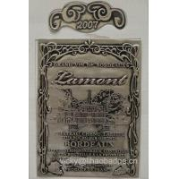 Buy cheap Adhesive Pewter Bottle Labels from wholesalers