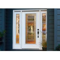 Quality Unique Solid Wood Front Doors Villa Europe Style Single Glazed / Double Glazed Glass wholesale