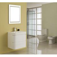 Cheap Single Ceramic Basin Rectangle Sink Vanity Hanged White Flush Color With Mirror for sale