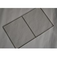 Cheap 304 Stainless Steel Crimped Mesh Barbecue Grills Panels / Trays for sale
