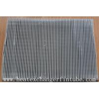 Quality Continous Piece Single Row Flat Fin Tube , Fin Per 1 Meter 250 Or 333 wholesale