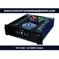 Quality Nightclub Sound Equipment / 2x1200W Class H High Power Analogue Amplifier For Subwoofer , Disco , Concert wholesale