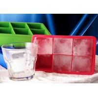 China DIY 6 Cavities Big Square Silicone Ice Cube Trays Safe To Use on sale