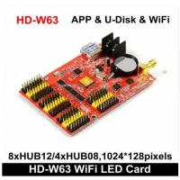 China HD-W63 Huidu Wireless Wifi + Usb Driver  , Wifi Single Color Led Control Card For Led Message Sign app control on sale