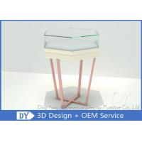 Quality Simple Fashion Glass Jewelry Display Case With Environmental PU Paint wholesale