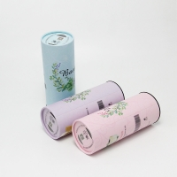 China T-Shirt Packaging Tube Eco Friendly Tissue Box Paper Tubes White Paper Tube Lid on sale