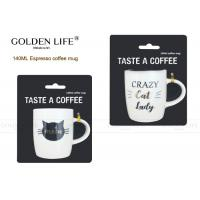 Quality 140cc Insulated Coffee Mugs , Custom Coffee Mugs With Crazy Cat Lady Design wholesale