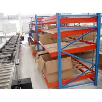 Buy cheap Metal Blue Gravitational Rolling Fluent carton Flow rack for Warehouse product