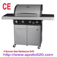 Quality Gas BBQ on cart 4 Burner Grills Gas wholesale