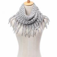 Quality Custom Logo Jacquard Winter Knitted Cotton Scarf , Ladies Knitted Scarves wholesale